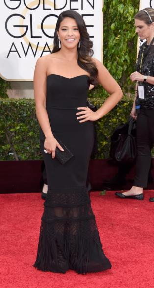 Gina came out of nowhere by winning the Golden Globe; this dress had the same effect.
