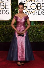 Kerry Washington channeled her inner Olivia Pope for this political-proper dress.
